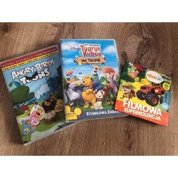ANGRY BIRDS KUBUŚ PUCHATEK  BAJKA NA DVD ZESTAW