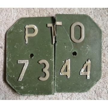 Polska motorowerowa tablica rejestracyjna