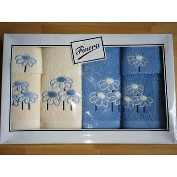 Komplet zestaw ręczników z haftem Finera 6 szt.