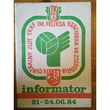 Informator 21-24.06.84 Bydgoszcz C.Z.TKKF im.Kędzi