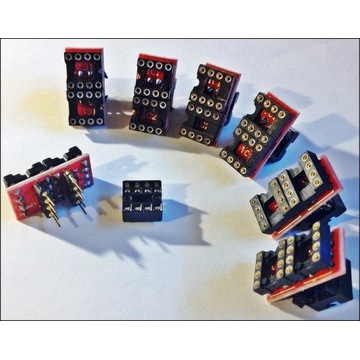 1 szt -- adapter 2xsingle DIP8 na 1xdual DIP8 opa