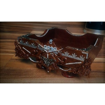 Pudełko glamour drewniane zdobione