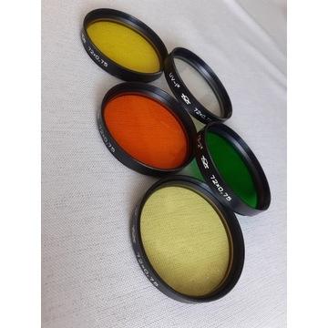 Filtry  72mm / 5 sztuk / efektowe / kolorowe