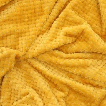 Narzuta kapa na łóżko musztardowa, żółta 220x240