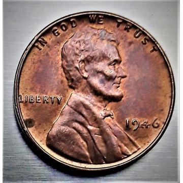 Moneta Lincoln Cent 1946  USA  Nr-1