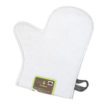 Rękawiczka do sauny, biała
