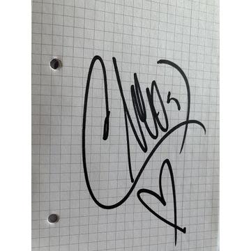 Oryginalny autograf Cleo