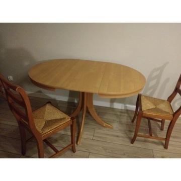 stół krzesła