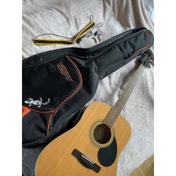 Gitara akustyczna Greg Bennett, pokrowiec +dodatki