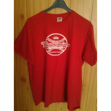 Koszulka Budweiser czerwona L używana