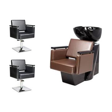2 x Fotel Fryzjerski + Myjnia Fryzjerska PIAZZA