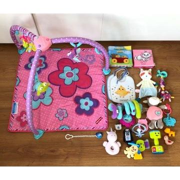 Mata edukacyjna Fisher Price T4909 róż + zabawki