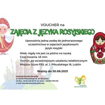 Voucher na zajęcia z języka rosyjskiego