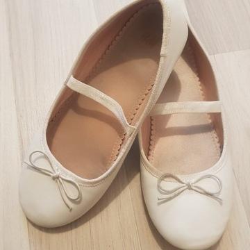 Białe balerinki H&M  r.33 / wkł. 21 cm