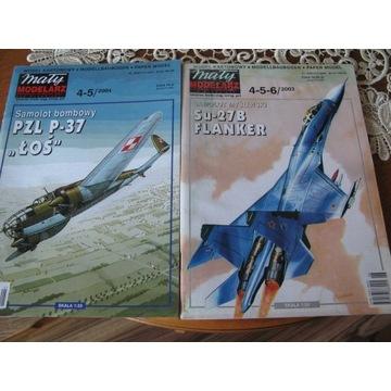 MAŁY MODELARZ 4-5/2004 ŁOŚ + 4-5-6/2003 FLANKER