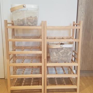 Regały na wino IKEA HUTTEN + 2 pojemniki