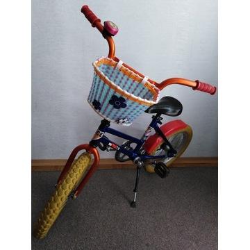Rower dziecięcy 16 cali BMX z koszykiem