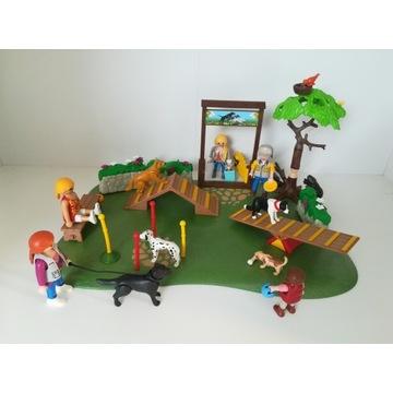 Playmobil zestaw szkoła dla psów park psy figurki