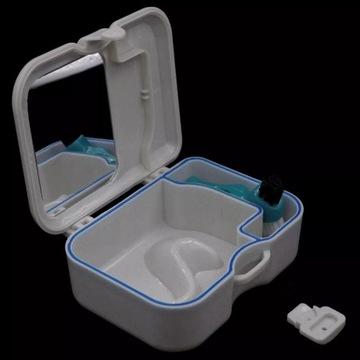 Pojemnik pudełko na protezę zębową + szczoteczka