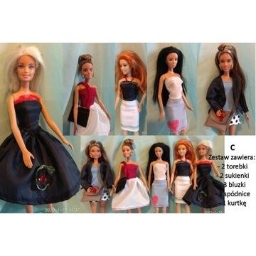 """Ubranka dla Barbie zestaw ubrań  """"C"""""""