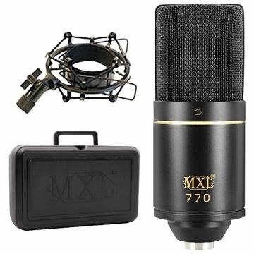 MXL 770 mikrofon pojemnościowy z Scarlett Solo