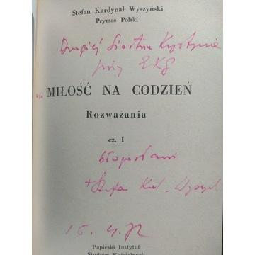 Kard. Stefan Wyszyński autograf