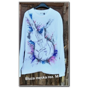 Bluza męska ręcznie malowana oversize r.M