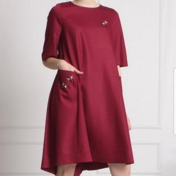 Sukienka koktajlowa oversize S/M