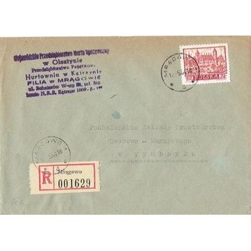 Mrągowo - Koperty listów poleconych 1960-80