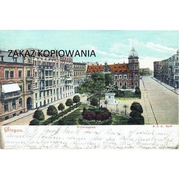 Głogów, Glogau, Wilhelmplatz, 1905 rok