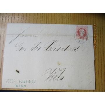 koperta /list AUSTRIA znaczek 1871