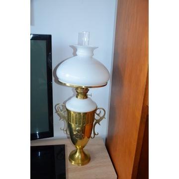 PIĘKNA LAMPA NAFTOWA MOSIĘŻNA !!!