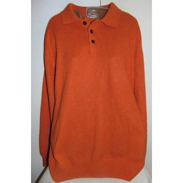 Hemmond. Pomarańczowy sweter z kaszmirem  42/444