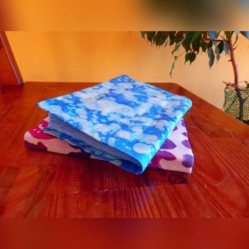 notatnik pamiętnik batik farbowany eko handmade
