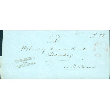 Królestwo Polskie - Radomsk, Pławno -1860 -Interes