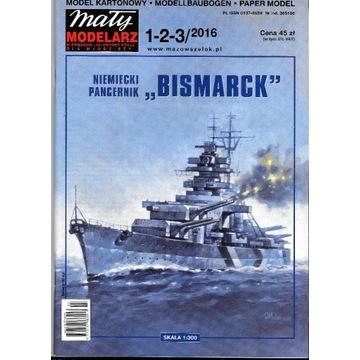 Mały Modelarz 1-2-3 2016 BISMARCK 1:300 Bałtycki