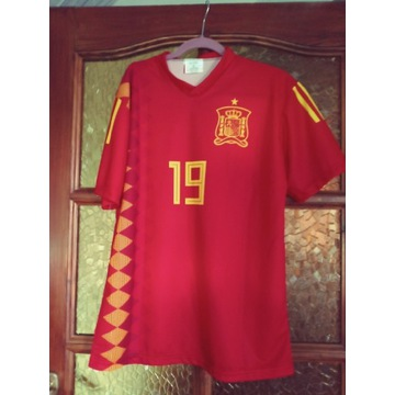 Koszulka pilkarska meska hiszpania S czerwona