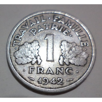 Francja 1 franc frank 1942