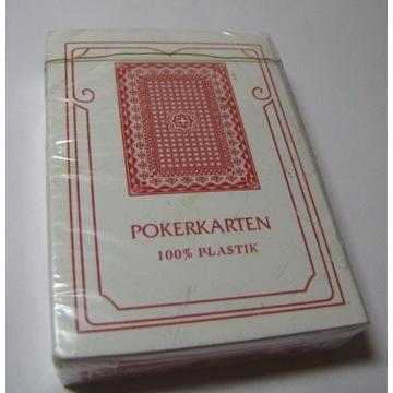 karty poker Pokerkarten 100% plastik nowe folia