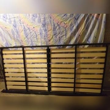 łóżko metalowe ze stelażem bez materaca