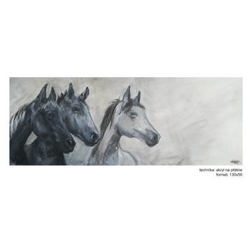 Malarstwo akrylowe, konie