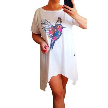 Asymetryczna tunika Katya koliber minouu