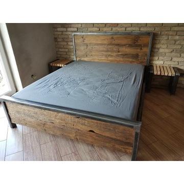 Łóżko Loft stalowe sypialnia