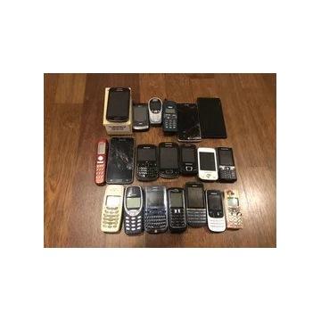 Zestaw telefonów 20 sztuk Nokia Samsung itp