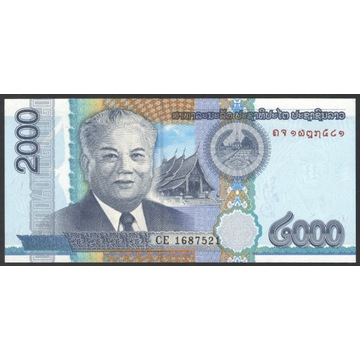 Laos 2000 kip 2011