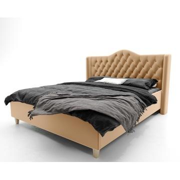 Łóżko tapicerowane chesterfield 160/200 z pojemnik