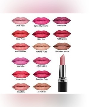 Avon Matowa szminka True colour różne odcienie