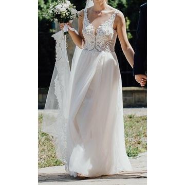 sukna ślubna (WELON 2 m z koronką + ozdoba GRATIS)