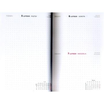 Kalendarz handmade | A5 | dzienny | kropki| bullet