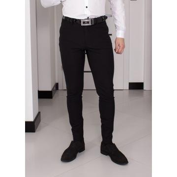 Spodnie Zara W31 (S - 40) Czarne Slim Fit 28T082